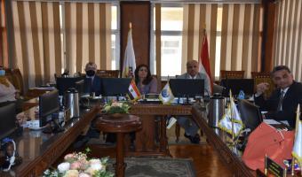 إجتماع مجلس الجامعة الدورى لجامعة مدينة السادات