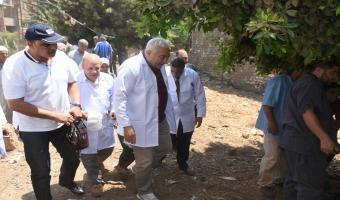 قافلة طبية بيطرية الي عزبة سيدي صالح بمركز الشهداء بالمنوفية