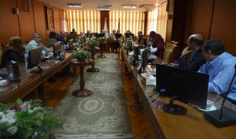 إنعقاد إجتماع مجلس العمداء الدورى الشهرى بالجامعة