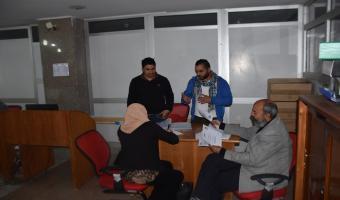 فريق من مركز ضمان الجودة في زيارة مراجعة لمشاريع نظم وتكنولوجيا المعلومات