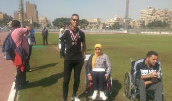 حصول الطالب وليد عبدالنبى على الميدالية الفضية فى سباق 200 متر عدو لمتحدى الإعاقة ببطولة الشهيد رفاعى ال45