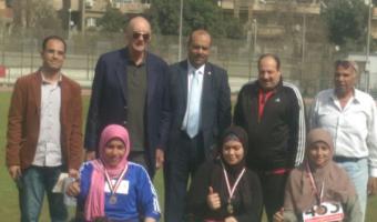 حصول الطالبة حنان إبراهيم على الميدالية الفضية فى سباق 100 متر كراسى متحركة ببطولة الشهيد رفاعى ال45