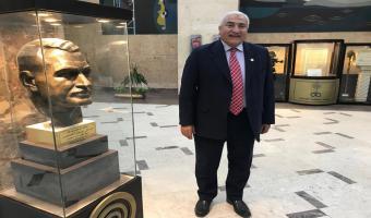 رئيس الجامعة يدلى بحديث إذاعى بإذاعة صوت العرب بماسبيرو