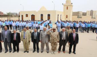 بالصور : رئيس الجامعة يتفقد دورة التربية العسكرية لطلاب جامعة مدينة السادات