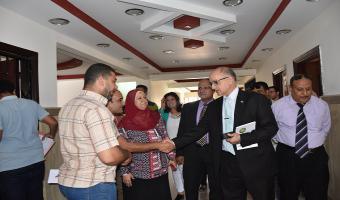 زيارة تفقدية لمبني الادارة الطبية بجامعة مدينة السادات بواسطة لجنة مشكلة من قبل قطاع خدمة المجتمع وتنمية البيئة