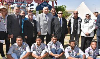 قيادات جامعة مدينة السادات تستقبل الطلاب مع بداية العام الدراسي الجديد