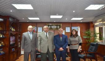 إكتمال منظومة القيادات العليا بجامعة مدينة السادات