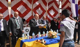 إفتتاح المهرجان الكشفى والإرشادى السنوى الرابع لجوالى وجوالات جامعة مدينة السادات