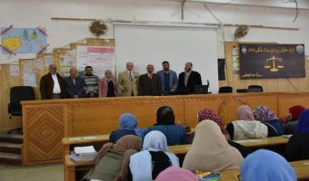 قطاع خدمة المجتمع وتنمية البيئة ينظم ندوة الإسعافات الأولية بكلية الحقوق