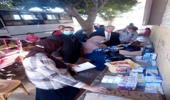 قافلة طبية بشرية  مجانية بمنطقة عزبة الاخماس غرب
