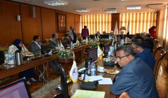 إنعقاد إجتماع مجلس جامعة مدينة السادات الشهرى لبحث جدول أعماله