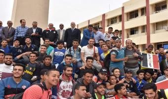 مارثون طلابي في حب مصر بجامعة مدنية السادات