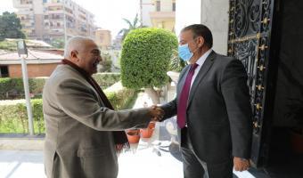 محافظ المنوفية يلتقي رئيس جامعة السادات لبحث أطر التعاون