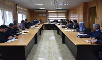 انعقاد الاجتماع الشهري للجنة التنفيذية للأيزو بالجامعة