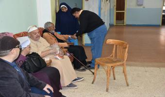 قافلة طبية مجانية لدار رعاية المسنين بمدينة السادات