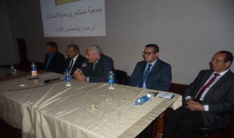 حضور رئيس الجامعة مؤتمر دعم الرئيس السيسى بمدرسة السادات للغات