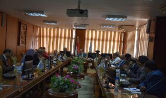إجتماع مجلس عمداء جامعة مدينة السادات