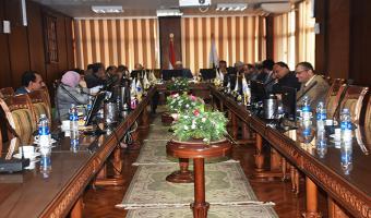 انعقاد مجلس جامعة مدينة السادات الشهرى لبحث جدول أعماله