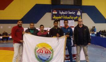 حصول الطالب مصطفى الدفراوى على الميدالية الفضية والطالب رضا سامى على الميدالية البرونزية بفاعليات دورة الشهيد رفاعى ال45
