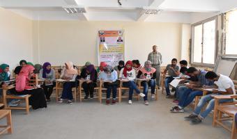 بالصور : دورات عن برنامج التعليم المدنى لطلاب جامعة مدينة السادات