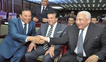 رئيس الجامعة يشارك فى تكريم الدكتور معوض الخولى رئيس جامعة المنوفية بمناسبة إنتهاء فترة رئاسته للجامعة