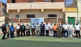 نائب رئيس جامعة مدينة السادات علي راس القوافل البشرية والبيطرية والزراعية الشاملة بقرية رملة الانجب