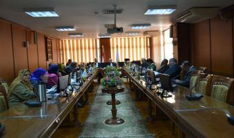انعقاد الإجتماع الشهري لمجلس إدارة مركز ضمان الجودة والتطوير المستمر
