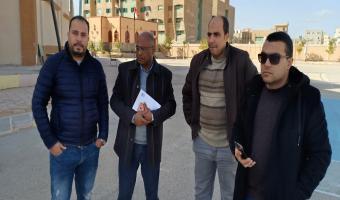 استقبال لجنة من وزارة الشباب والرياضة وادارة المهمات بالقوات المسلحة لتسليم ملاعب مبنى (أ) بكلية التربية الرياضية