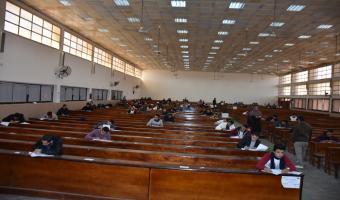 اليوم : طلاب جامعة مدينة السادات يواصلون إمتحانات الفصل الدراسى الأول