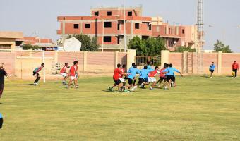 فريق القدم بكلية الحقوق  يحقق فوزآ هامآ على كلية التربية الرياضية ويتصدر المجموعة الأولى بمهرجان الدورى الرياضى