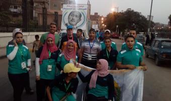 الطالبه نهاد سعيد خليفة تحصل على الميدالية البرونزية في مسابقات الشطرنج بأسبوع شباب الجامعات المصرية لمتحدي الإعاقة