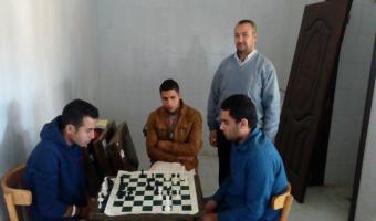 فوز أسرة كلية التجارة بالمركز الأول فى الشطرنج باليوم الرياضى لأسر كليات الجامعة
