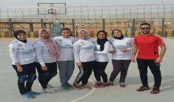 حصول منتخب الجامعة للكرة الطائرة بنات على المركز الرابع بأولمبياد الفتاة الجامعية بشرم الشيخ