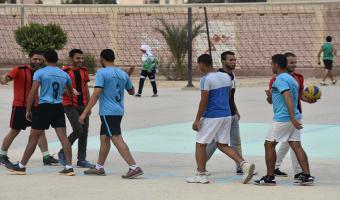 التربية الرياضية تحصد درع بطولة الكرة الطائرة  في الدوري الرياضي بالجامعة