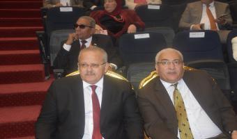 مشاركة رئيس الجامعة ونائبه فى إفتتاح فعاليات أسبوع شباب الجامعات بجامعة كفر الشيخ