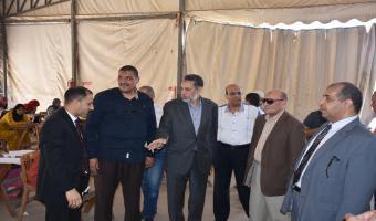 نائب رئيس جامعة مدينة السادات يتابع سير الامتحانات بكليتي التجارة والسياحة والفنادق