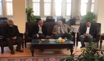 رئيس جامعة مدينة السادات في زيارة لجامعة الزقازيق