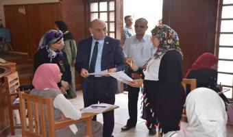 نائب رئيس جامعة مدينة السادات يتابع سير الامتحانات بكليتي التربية الرياضية والطب البيطري