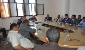 إجتماع نائب رئيس الجامعة بالسادة أعضاء هيئة التدريس بكلية الحقوق