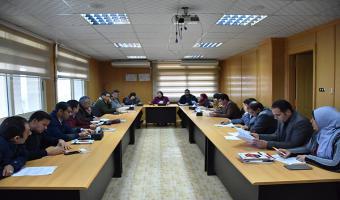 انعقاد الاجتماع الشهري للمجلس التنفيذى لمركز ضمان الجودة والتطوير المستمر بالجامعة