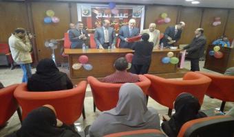 نائب رئيس الجامعة يشارك كلية التربية الرياضية حفلها بعيد الام وتكريم الأمهات المثاليات
