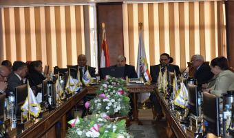 إنعقاد مجلس الجامعة بمشاركة رئيس الجهاز المركزي للتنظيم  والإدارة كعضواً من الخارج