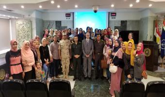 جامعة مدينة السادات في زيارة لجهاز العمل النفسي بالقوات المسلحة