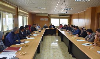 رئيس الجامعة يفتتح الاجتماع الشهري للمجلس التنفيذى لمركز ضمان الجودة والتطوير المستمر بالجامعة