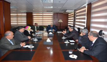 إجتماع لجنة شئون خدمة المجتمع وتنمية البيئة الدورى الشهرى
