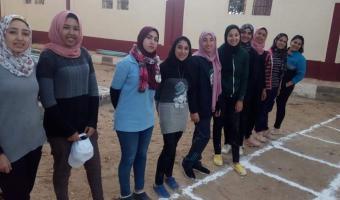 الجامعة تشارك بوفد فى فعاليات أسبوع الفتيات الخامس للجامعات المصرية بالفيوم