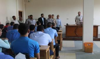 نائب رئيس الجامعة يتفقد دورة التربية العسكرية بكلية الحقوق