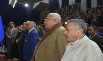 رئيس جامعة مدينة السادات ونائبة يشاركان فى حفل افتتاح البطوله الرياضيه ال 15 للمدن الجديده 2020.