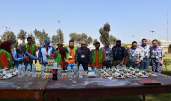 جامعة مدينة السادات تشارك فى كرنفال الجوالة خلال أسبوع شباب الجامعات الأول لمتحدى الإعاقة بجامعة المنيا
