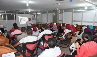مشروع التدريب يواصل دوراتة التدريبية لطلاب كلية التربية على تكنولوجيا المعلومات